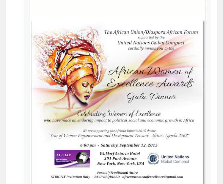 African Women Of Excellence Awards Gala Dinner