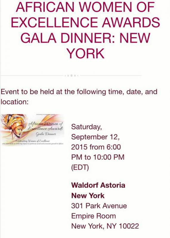 African Women Of Excellence Awards Gala Dinner2