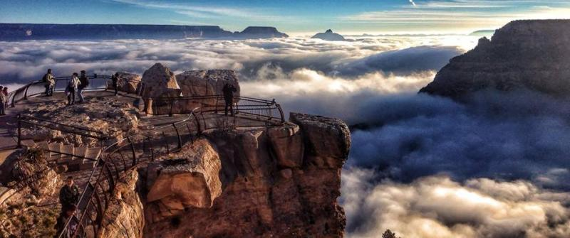 Grand Canyon in fog awesome
