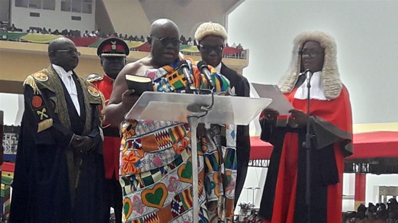 nana akufo-addo is sworn in as president