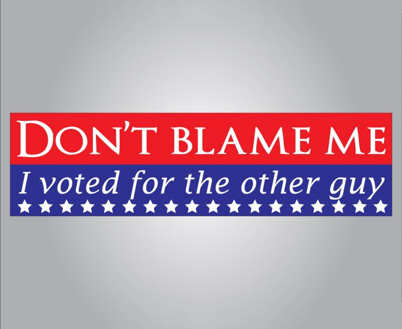 trum clinton bumpersticker