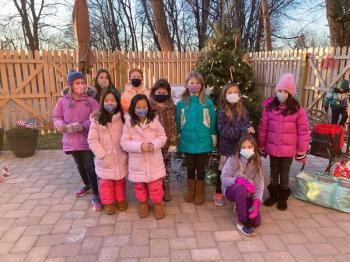 Westwind Manor residents enjoy Holiday Visit from Sparta Girl Scouts troop #97456
