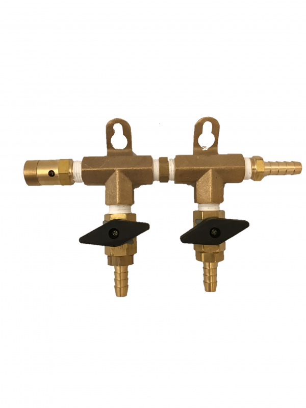 2-Way Brass Gas Manifold