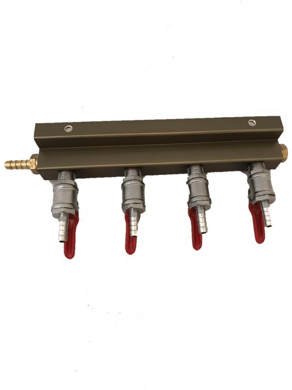 4-way Aluminum Air Manifold