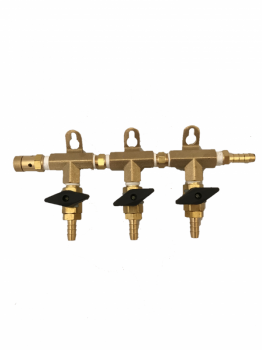 3-Way Brass Gas Manifold