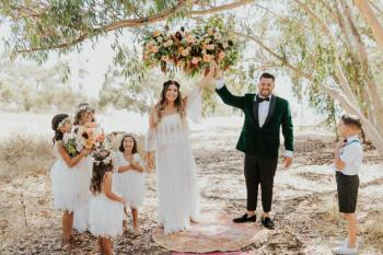 Whimsical Elopement with their 7 kids - Kelly + Joseph