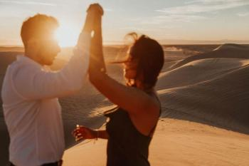 Barefoot Sunset Engagement Shoot, Glamis Sand Dunes