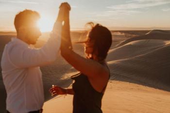 Barefoot Sunset Engagement Shoot, Glamis Sand Dunes