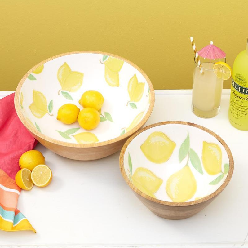 Lemon Wooden Bowls