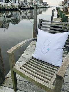 New Jersey Heart Pillow