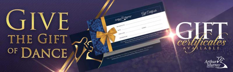 Dance Lessons Gift Certificate