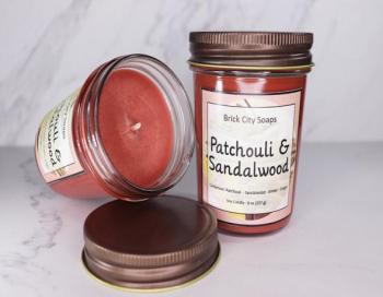 Patchouli & Sandalwood Soy Wax Candle