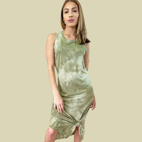 TANK DRESS-OLIVE