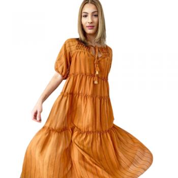 SUNSET ORANGE MAXI DRESS