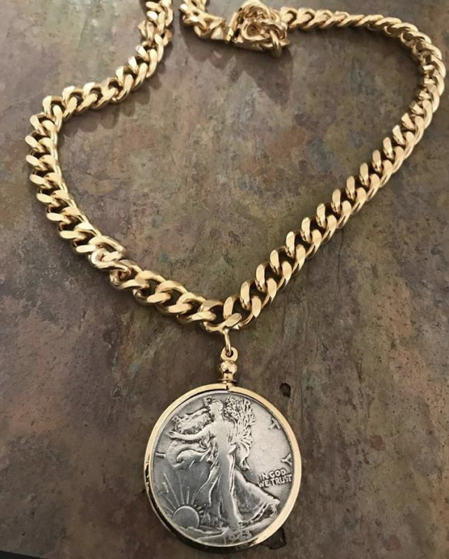 Vintage Liberty Coin Necklace