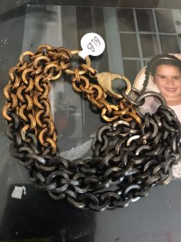 Multi Strand Recycled Brass and Oxidized Brass Bracelet