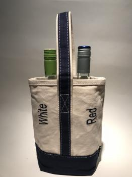 Canvas wine Tote Bag