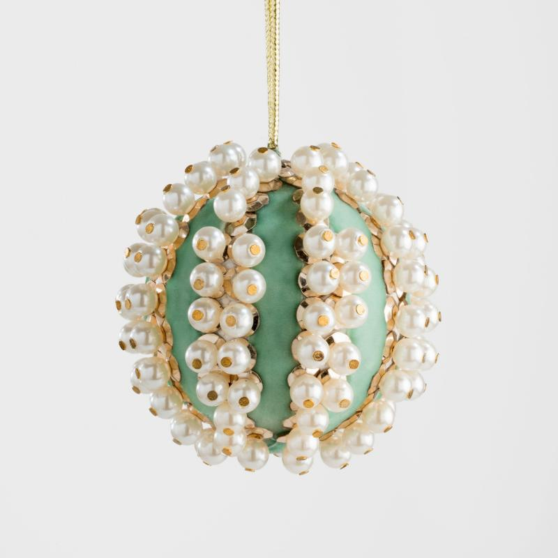 Pearl & Velvet Hanging Ornament
