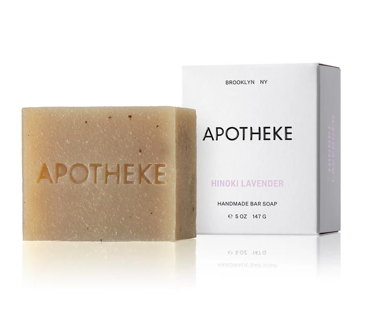 Apotheke Hinoki Lavender Bar Soap