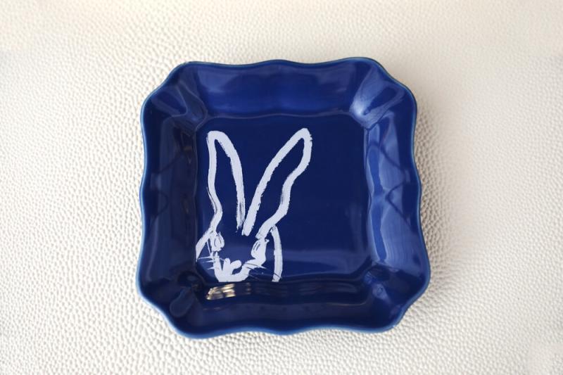 Bunny Portrait Plate, Hunt Slonem