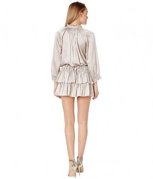 Platinum Ruffle Mini Dress