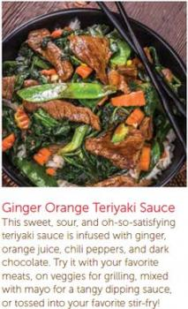 Ginger Orange Teriyaki Sauce
