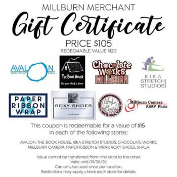 Millburn Merchant Gift Certificate
