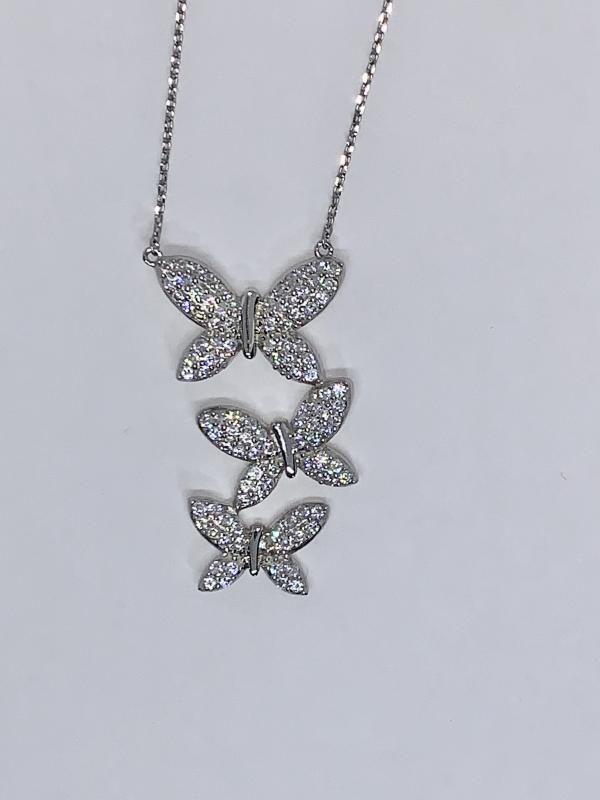 Sterling Silver Butterfly Pendant on Necklace