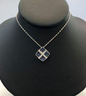 Sappire and Diamond Pendent