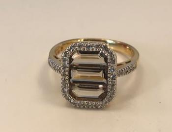 Smoked Topaz Ring