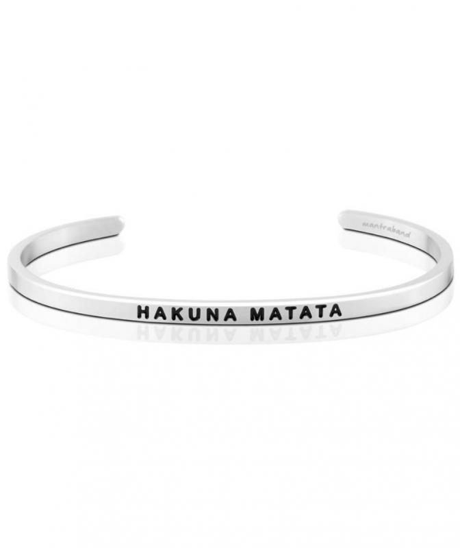 MantraBand Cuff Bracelet - Hakuna Matata (Silver)