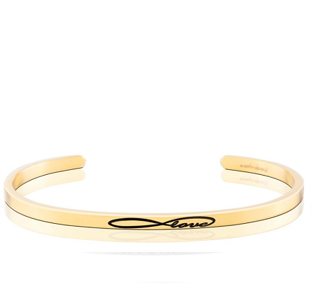 MantraBand Cuff Bracelet  - Infinite Love (Gold)