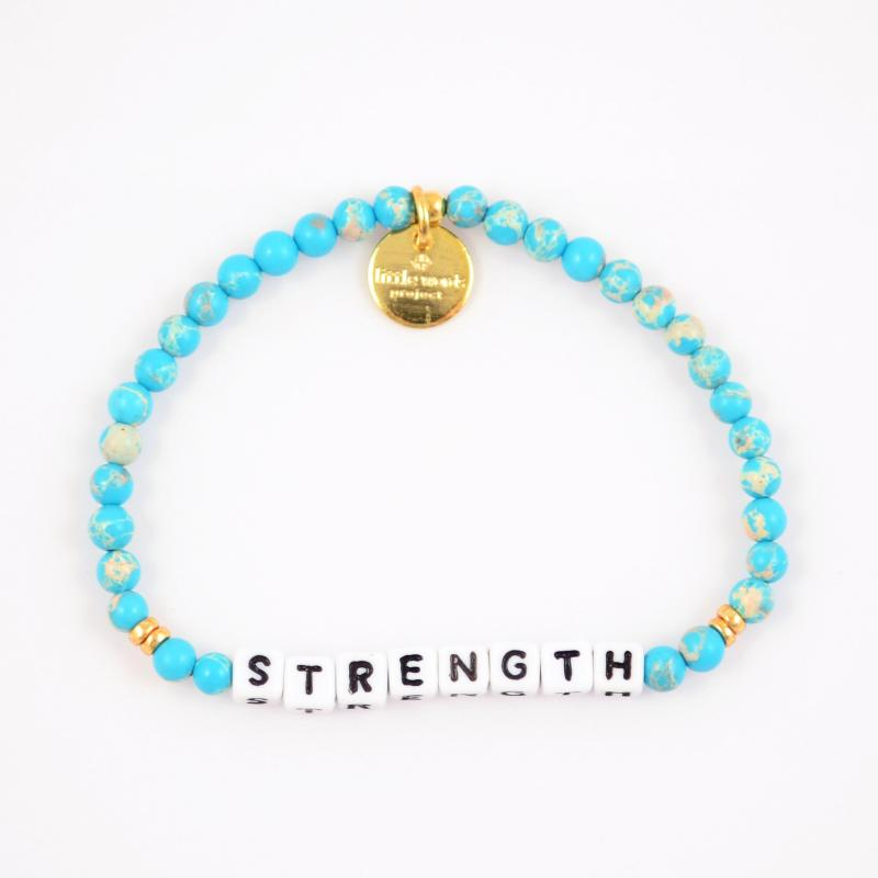 Little Words Project Bracelet - Strength (White/Emperor Stone)