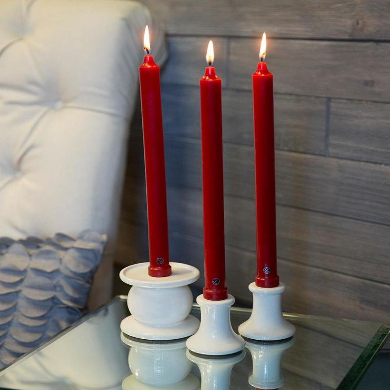 12 Inch Red Classic Candle