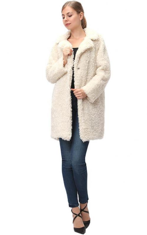 Soft Faux Fur Jacket - Cream