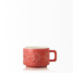 Thymes Hot Cocoa Dark Chocolate Mini Mug Candle