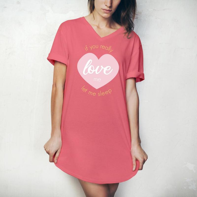 Hello Mello Pajama Shirt - If You Really Love Me, Let Me Sleep