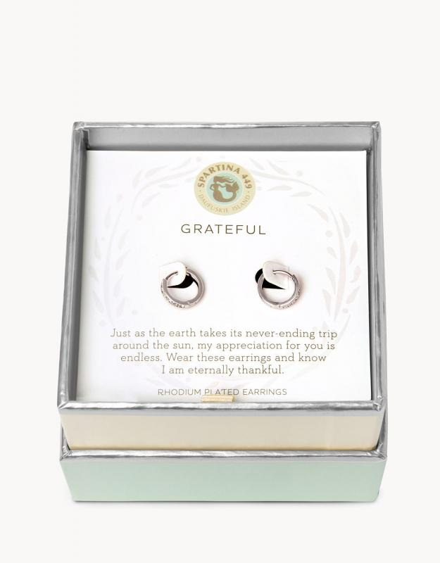 Spartina 449 Mini Hoop Earrings - Grateful