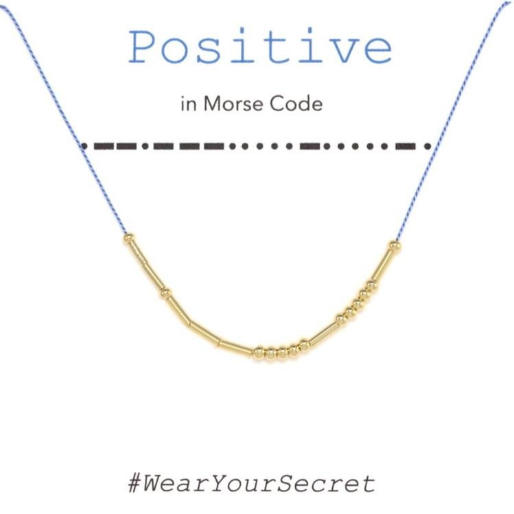 Wear Your Secret Morse Code Necklace - Positive