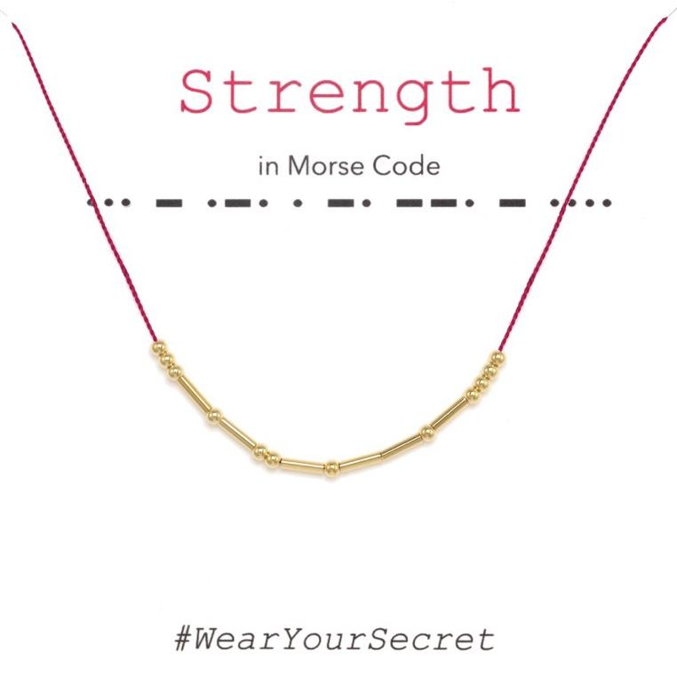 Wear Your Secret Morse Code Necklace - Strength