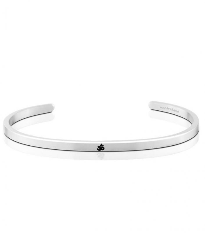 MantraBand Cuff Bracelet - Om (Silver)