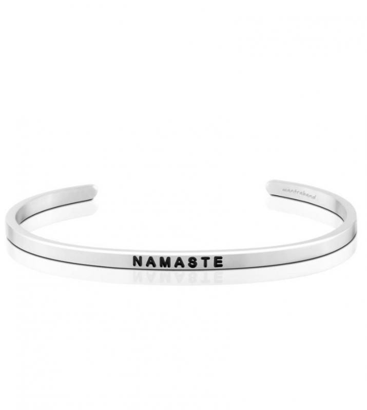 MantraBand Cuff Bracelet - Namaste (Silver)