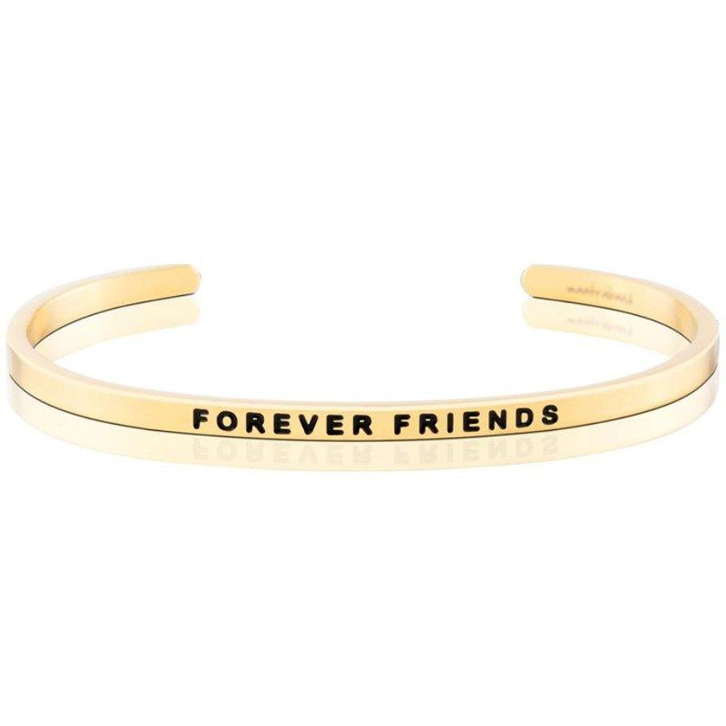 MantraBand Cuff Bracelet - Forever Friends (Gold)