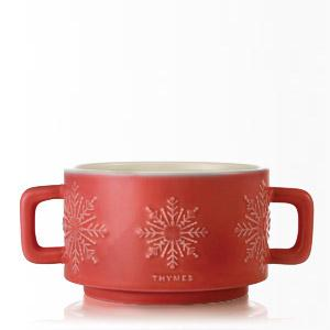 Thymes Hot Cocoa Dark Chocolate 3-Wick Candle Mug