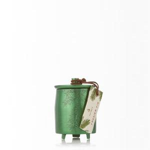 Thymes Frasier Fir Heritage Small Green Metal Tin Candle