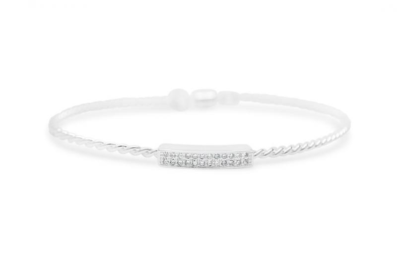 Stia Pavé Double Bar Bracelet