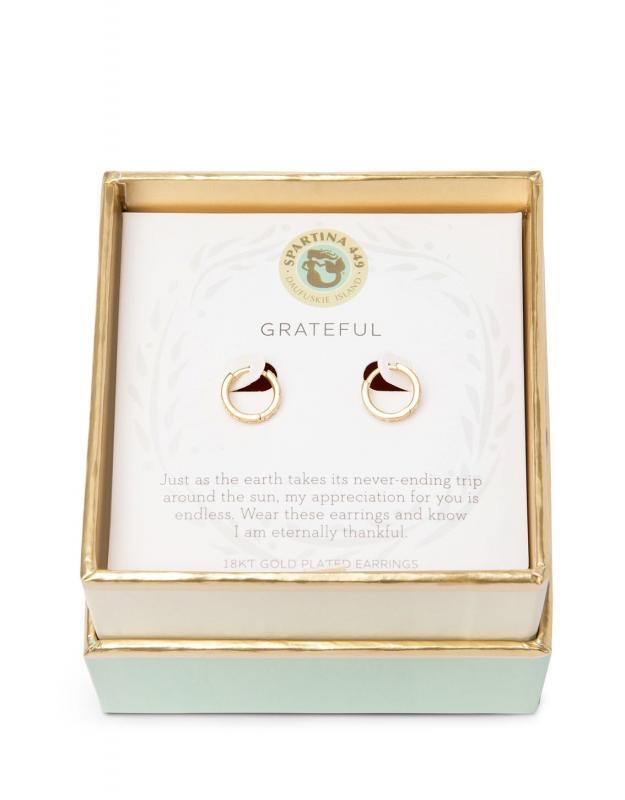 Spartina 449 Mini Hoop Earrings - Grateful