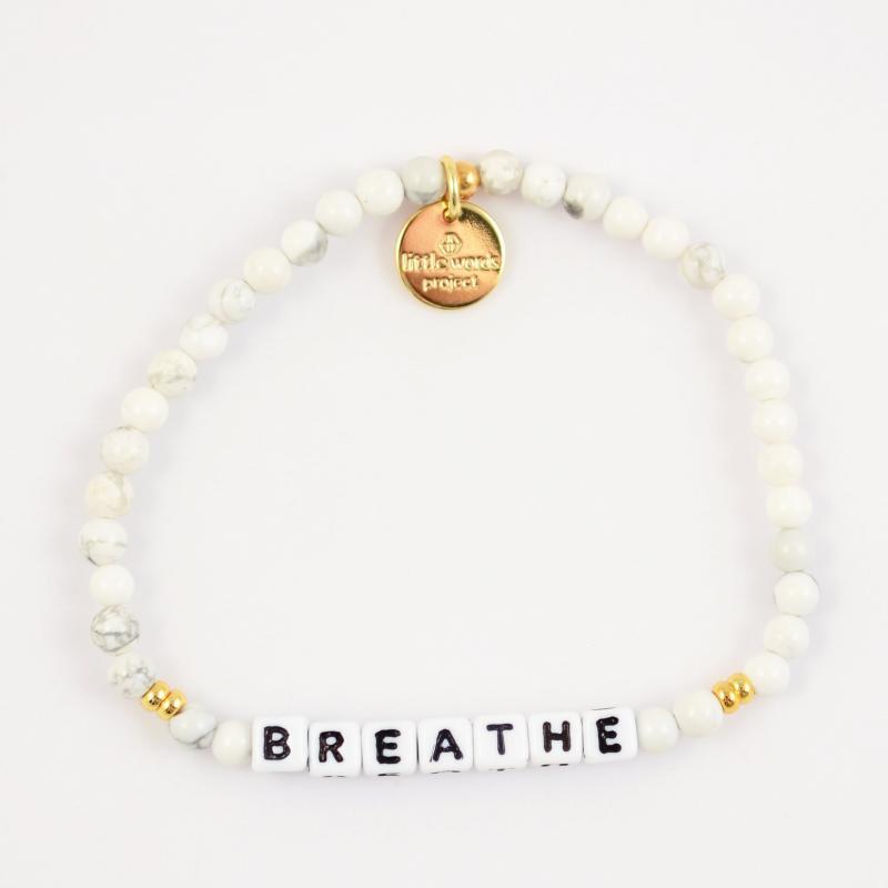 Little Words Project Bracelet - Breathe (White/White Howlite)