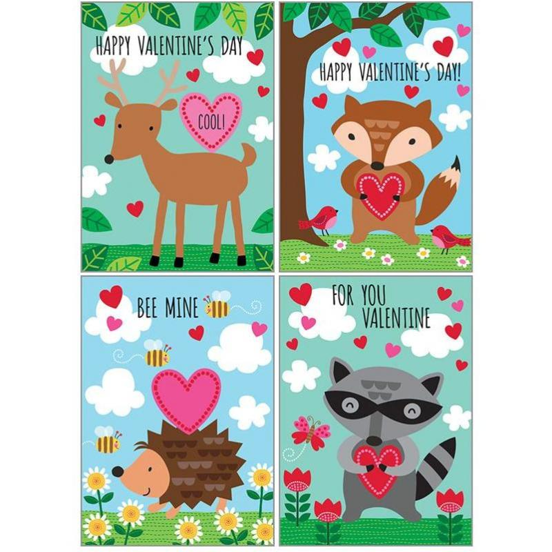 Kids Valentine Pack - Animal Valentines