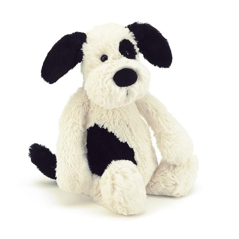 Bashful Black and Cream Puppy - Medium
